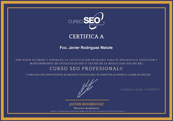 certificación SEO